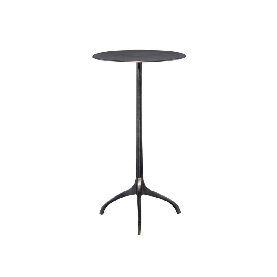 three leg metal cocktail accent table