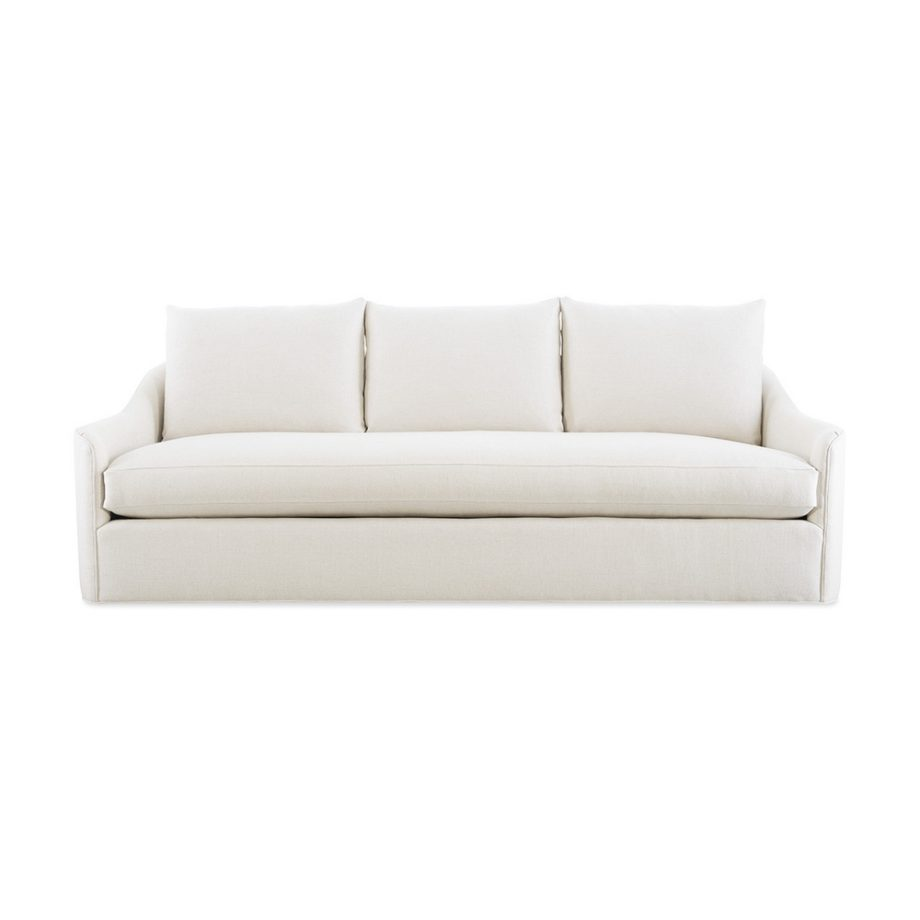 CR Laine barrington long sofa in uncommon natural fabric