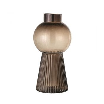 brown glass mod vase