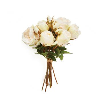bundle of 8 faux white roses