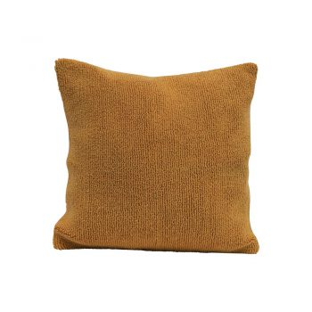 mustard terry cloth throw pillow