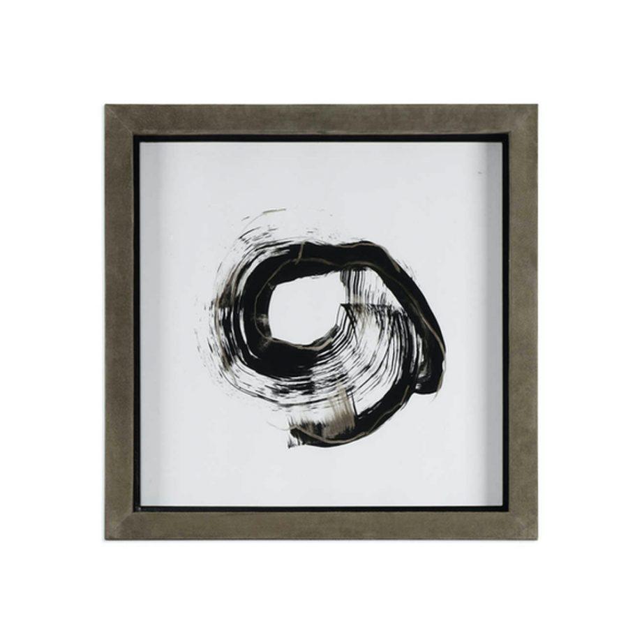 black and gray circle brushstroke art