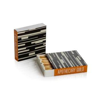 black and gray geometric square box of matches