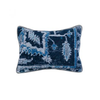 blue shades vintage rug inspired pillow