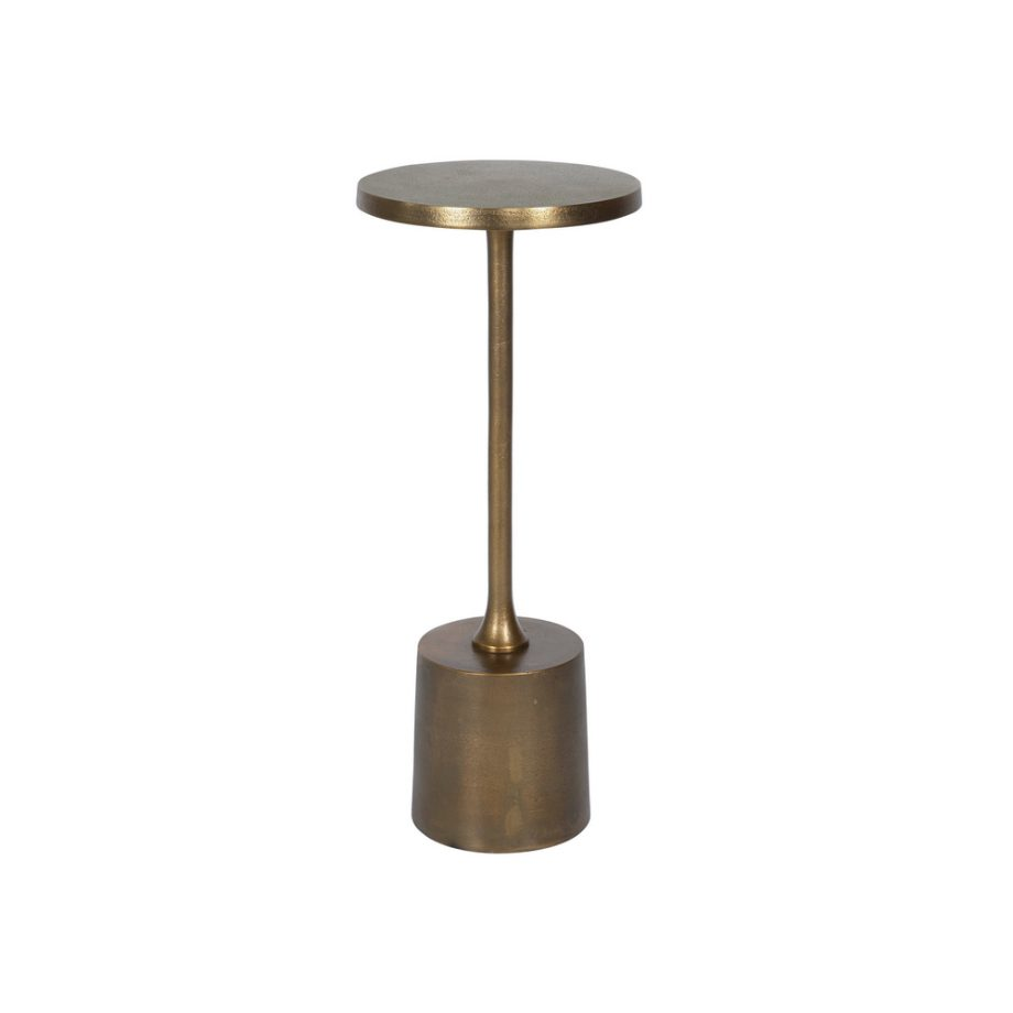 brass textured metal cocktail table