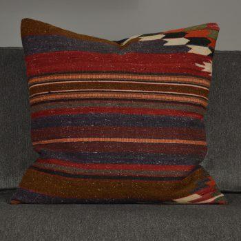 gray red and orange turkish pillow