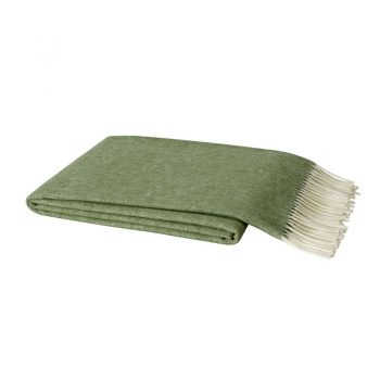 olive green italian herringbone throw