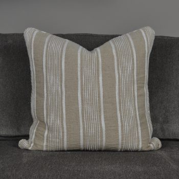 light brown and white striped pillow