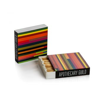 rainbow color square box of matches
