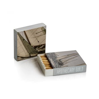 sailboat square box of matches