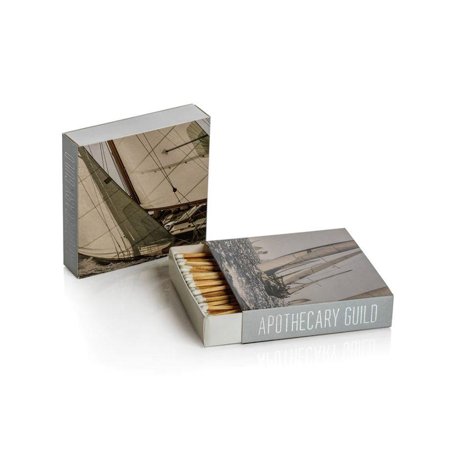sailboat square box of matches