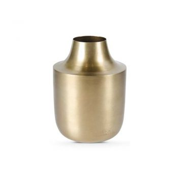 brass vase with tapered top
