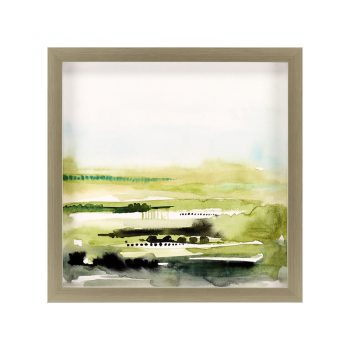 green and black watercolor landscape art
