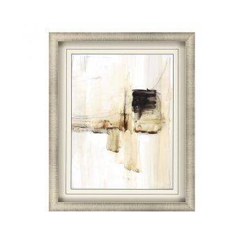 light brown and black abstract blotch brushstroke art