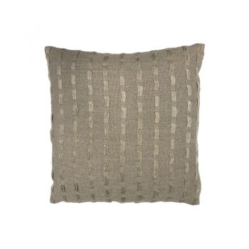 natural linen pillow with thread weave pattern